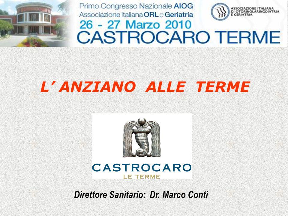 Direttore Sanitario: Dr. Marco Conti