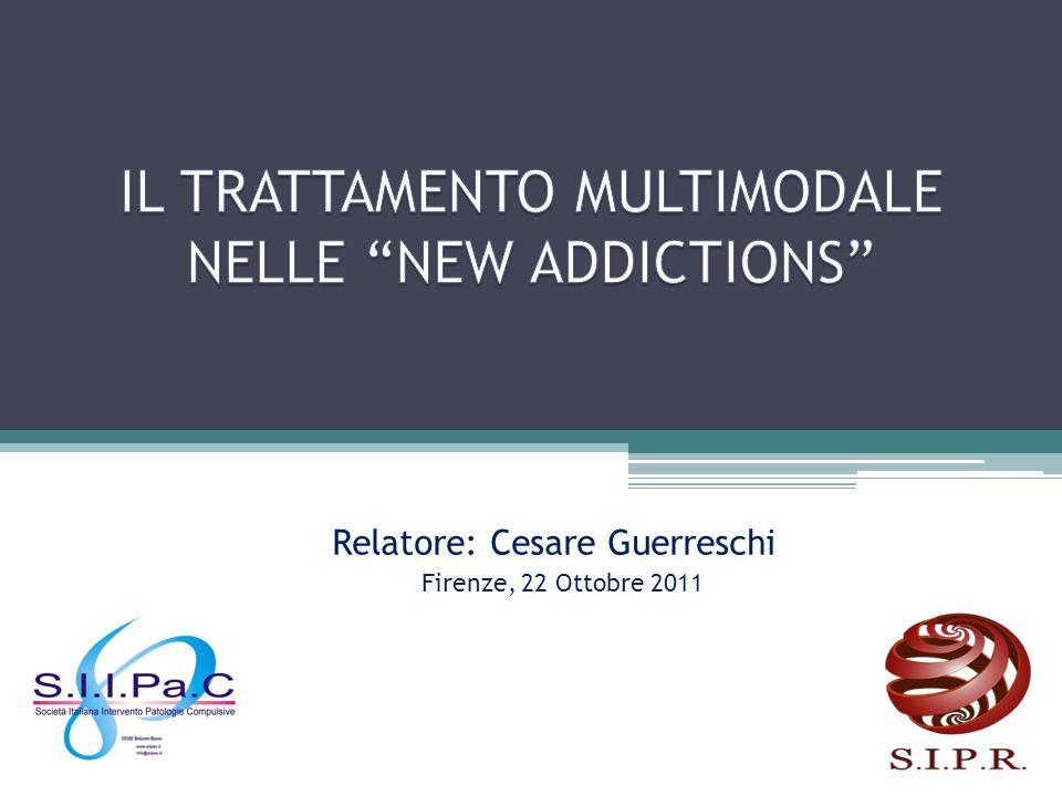 IL TRATTAMENTO MULTIMODALE NELLE NEW ADDICTIONS