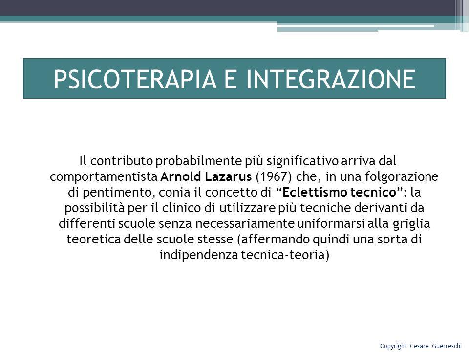 PSICOTERAPIA E INTEGRAZIONE