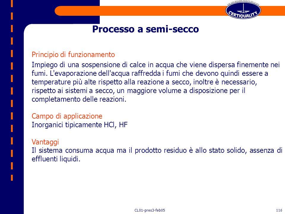 Processo a semi-secco Principio di funzionamento