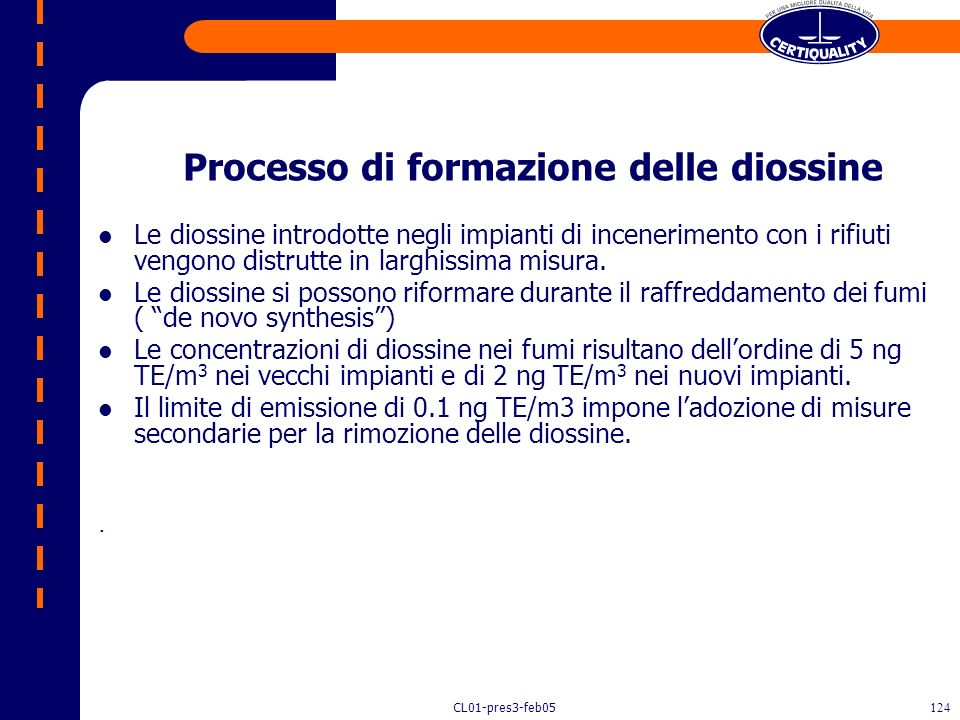 Processo di formazione delle diossine