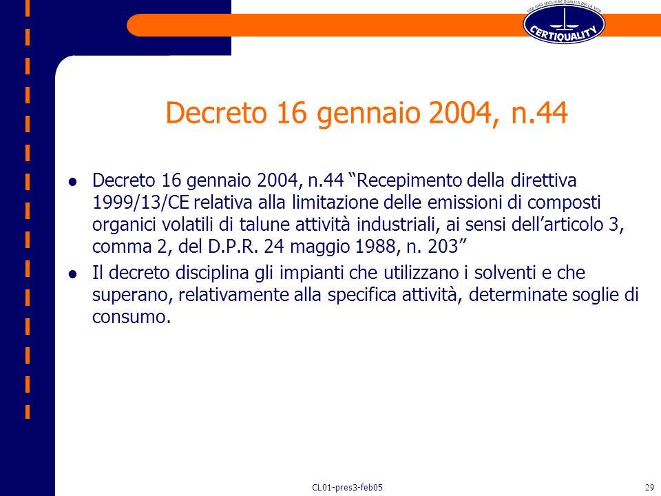 Decreto 16 gennaio 2004, n.44