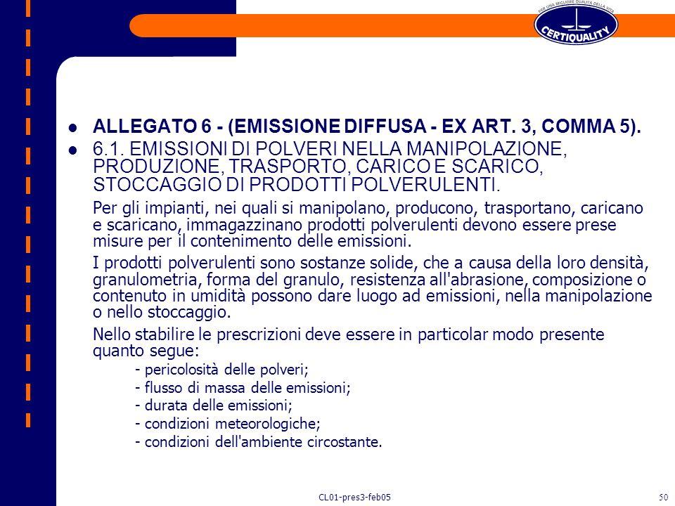 ALLEGATO 6 - (EMISSIONE DIFFUSA - EX ART. 3, COMMA 5).