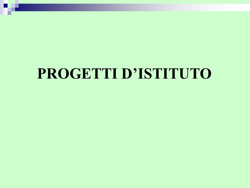 PROGETTI D'ISTITUTO