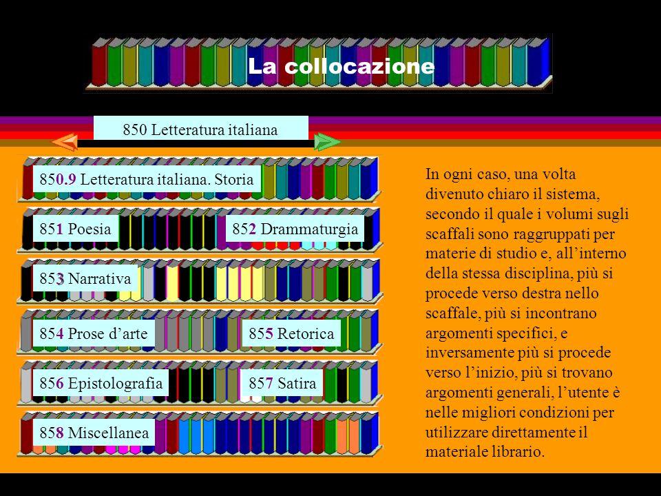 850.9 Letteratura italiana. Storia