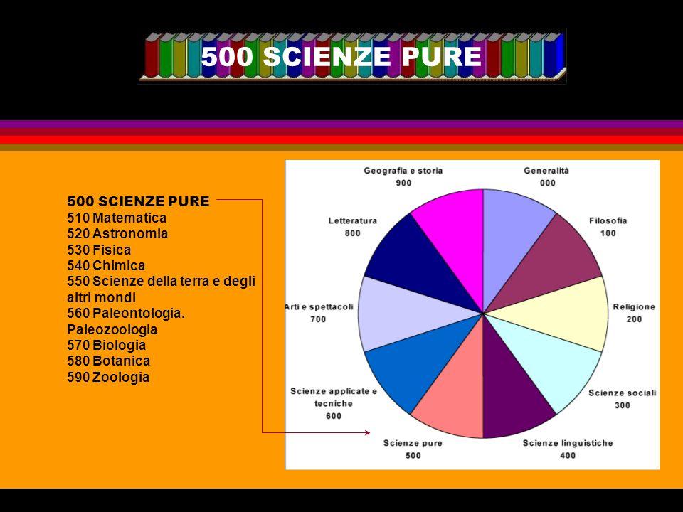 500 SCIENZE PURE
