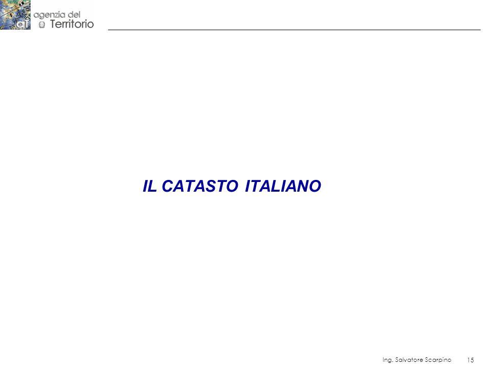 IL CATASTO ITALIANO Ing. Salvatore Scarpino