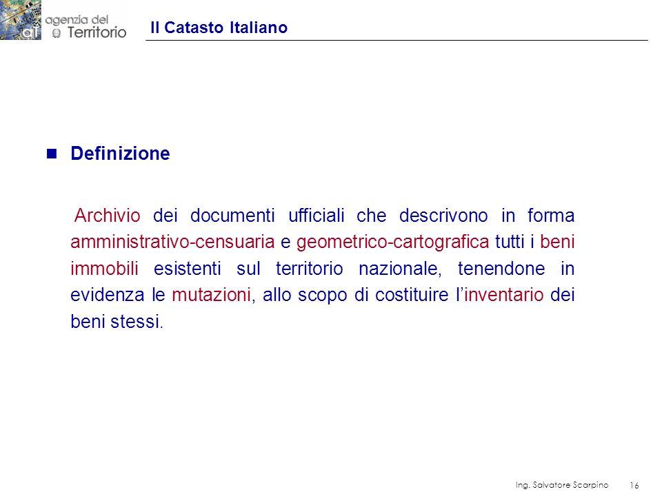 Definizione Il Catasto Italiano