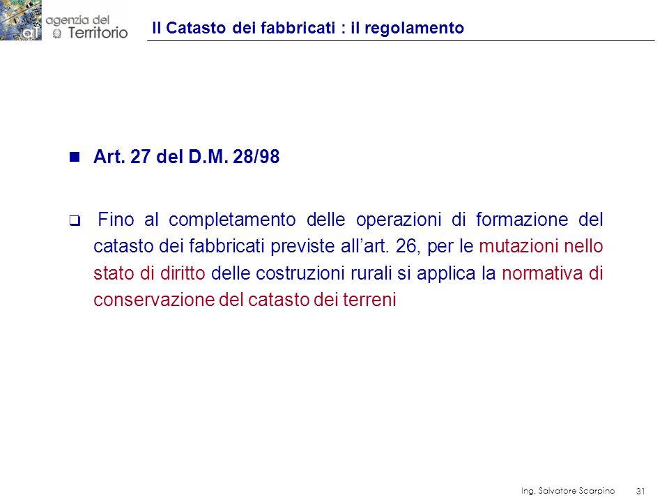 Il Catasto dei fabbricati : il regolamento