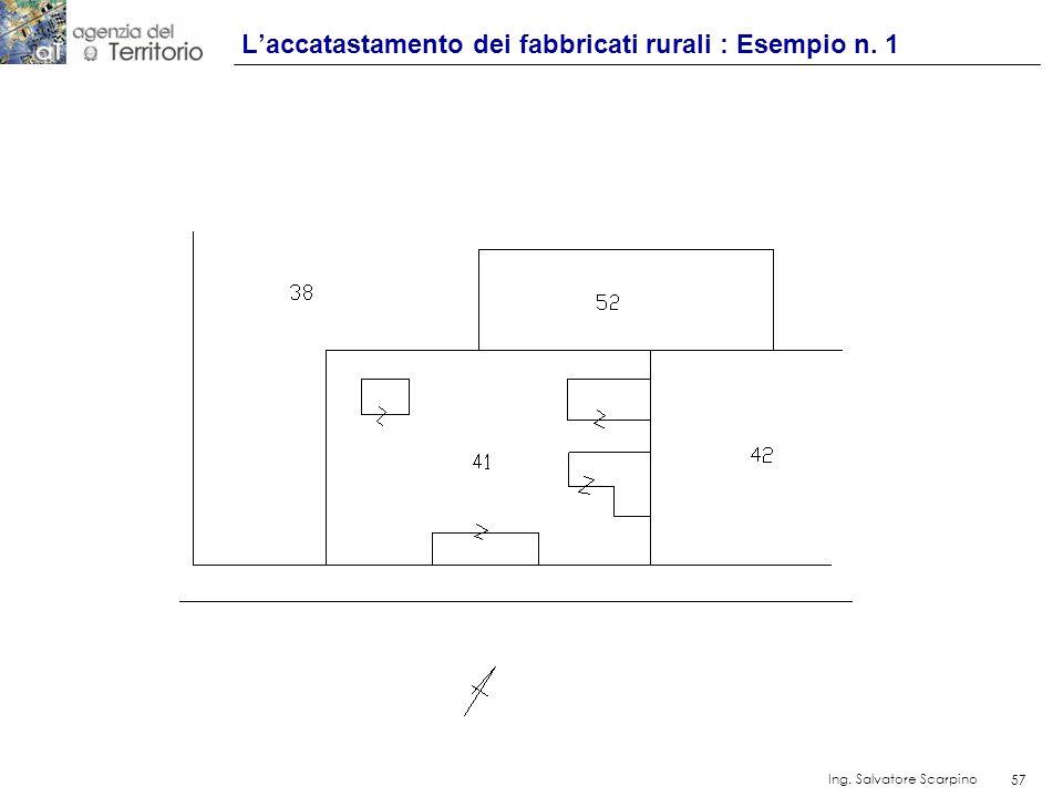 L'accatastamento dei fabbricati rurali : Esempio n. 1