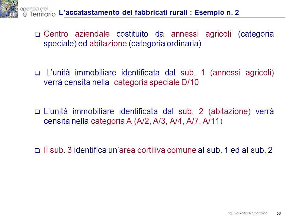 L'accatastamento dei fabbricati rurali : Esempio n. 2