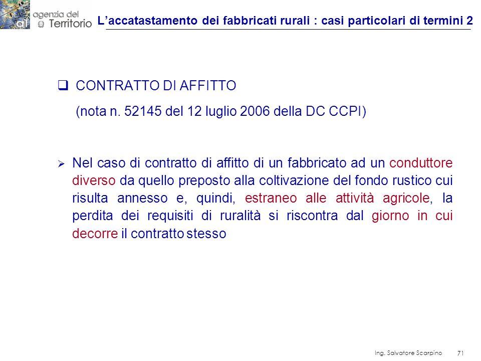 L'accatastamento dei fabbricati rurali : casi particolari di termini 2