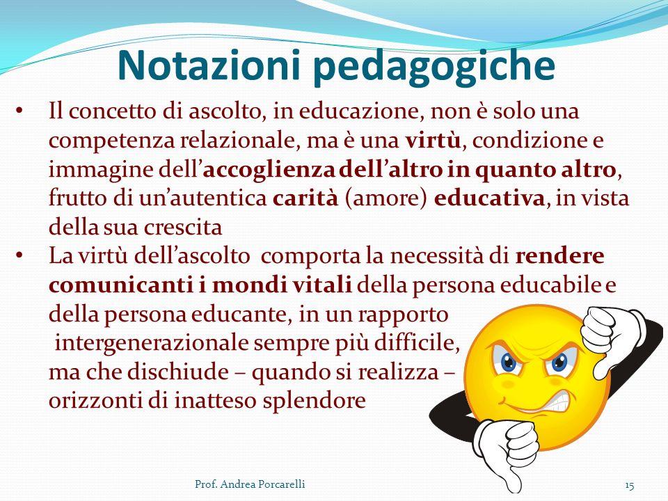 Notazioni pedagogiche