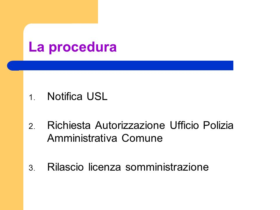 La procedura Notifica USL