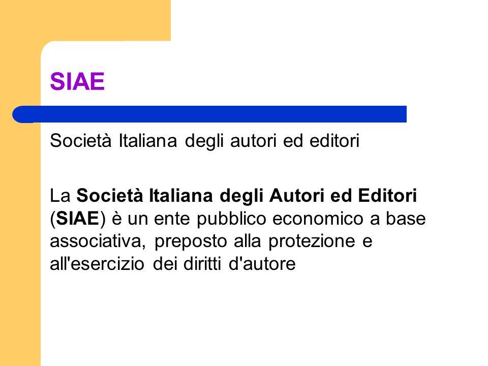 SIAE Società Italiana degli autori ed editori