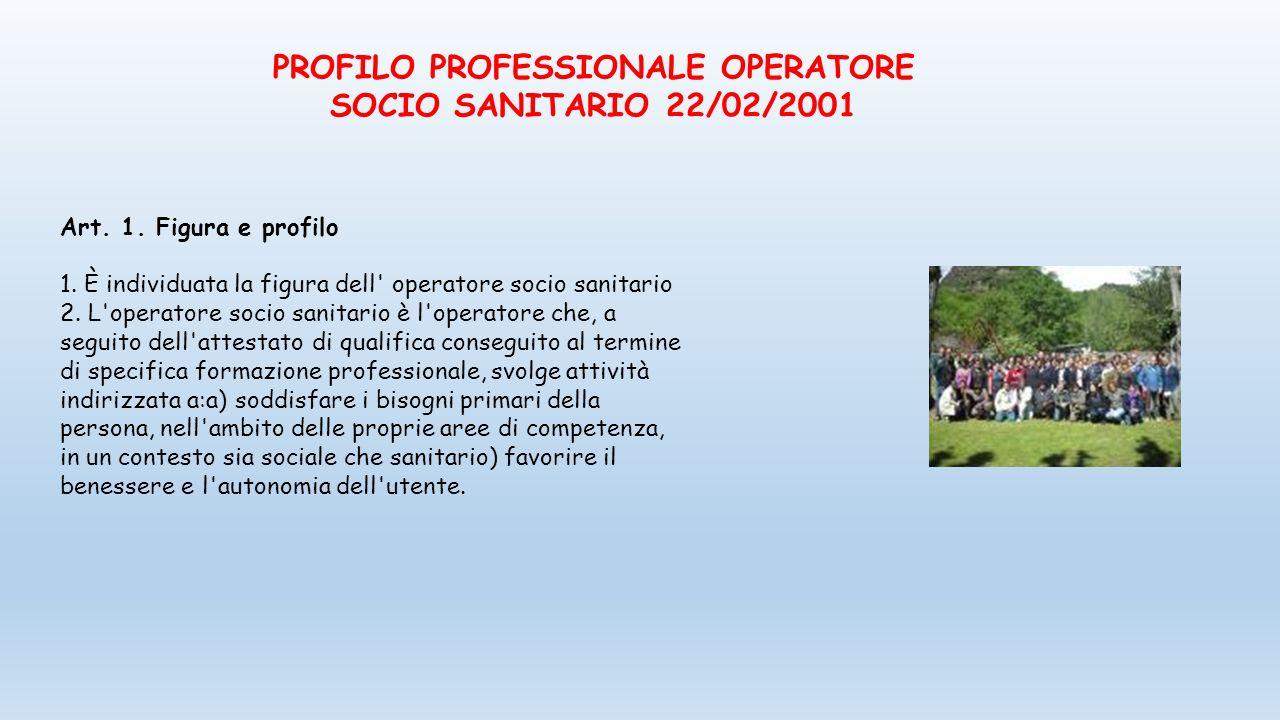 PROFILO PROFESSIONALE OPERATORE