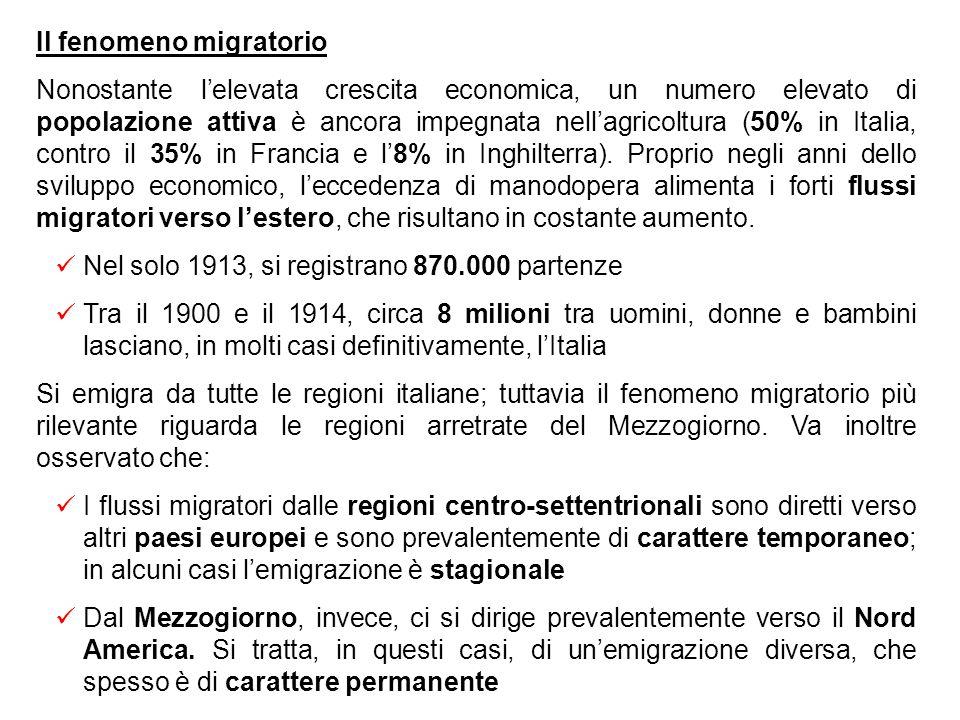 Il fenomeno migratorio