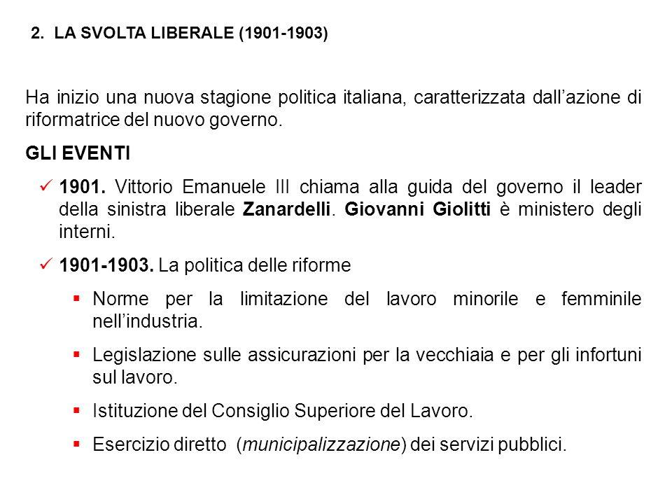 1901-1903. La politica delle riforme