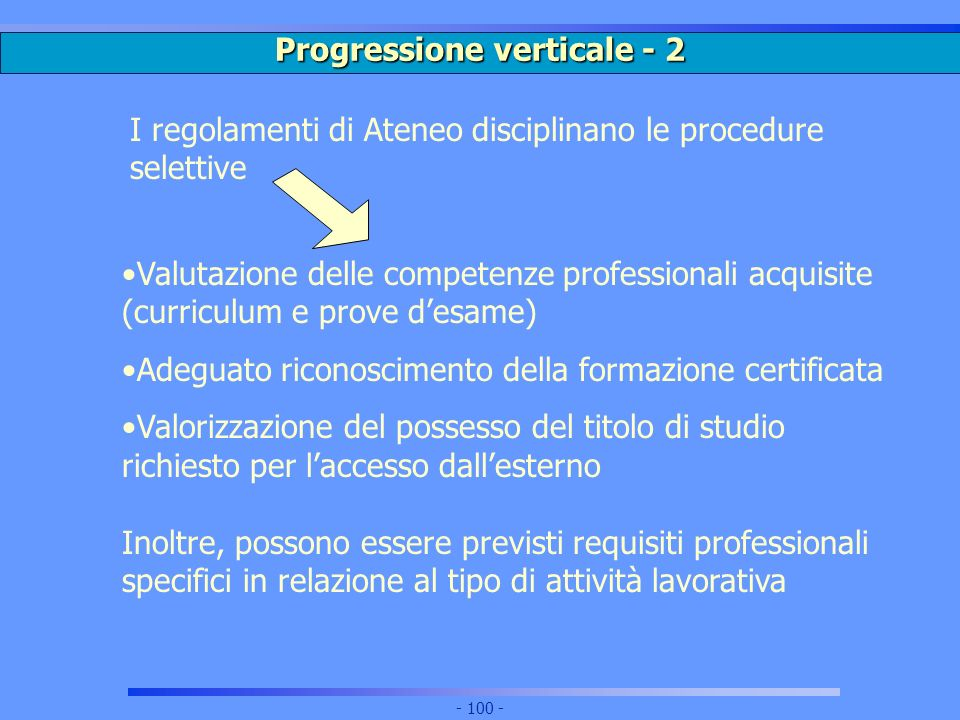 Progressione verticale - 2