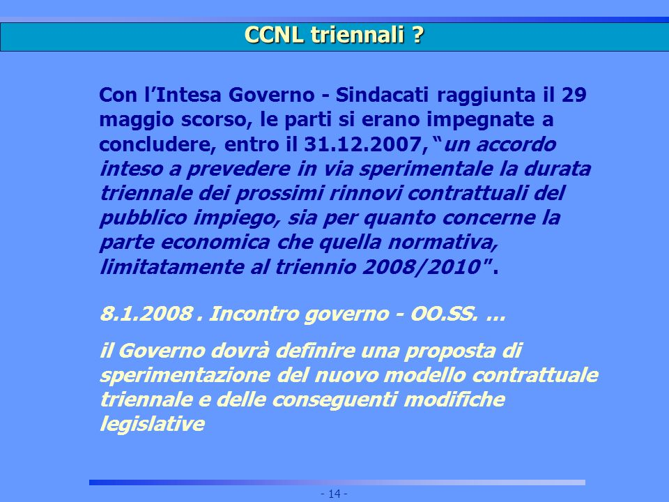 CCNL triennali
