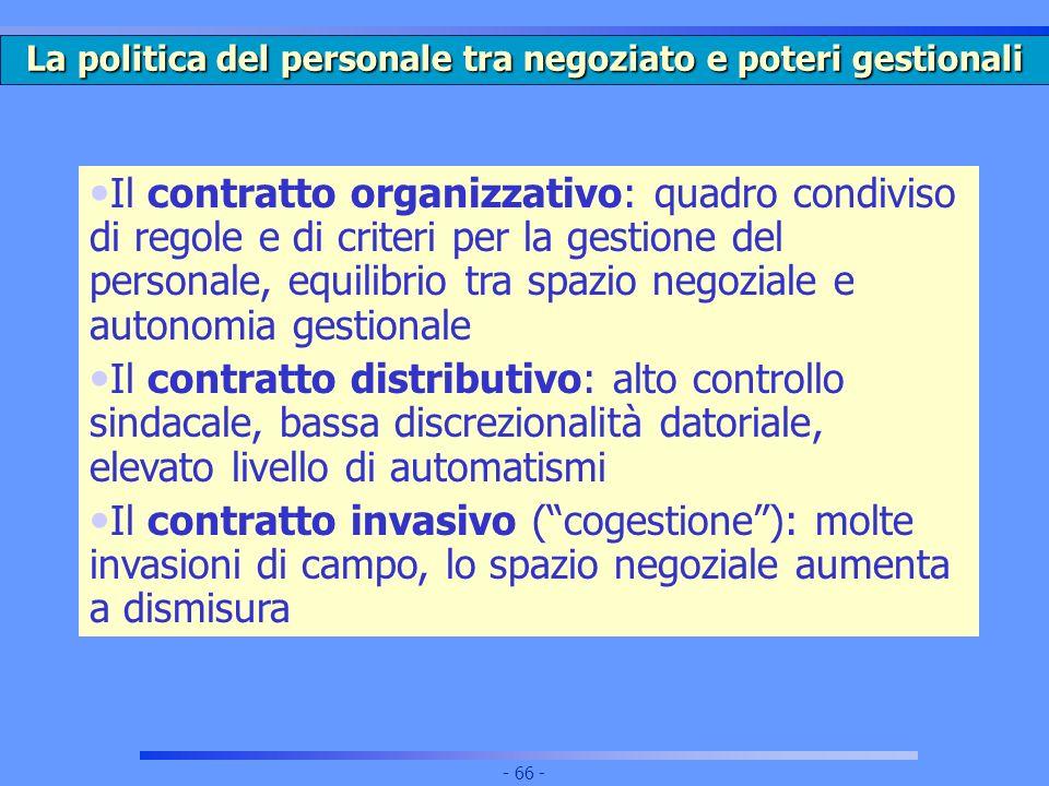 La politica del personale tra negoziato e poteri gestionali