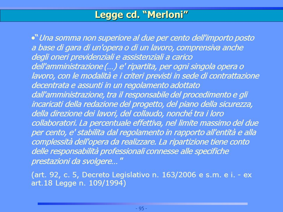 Legge cd. Merloni