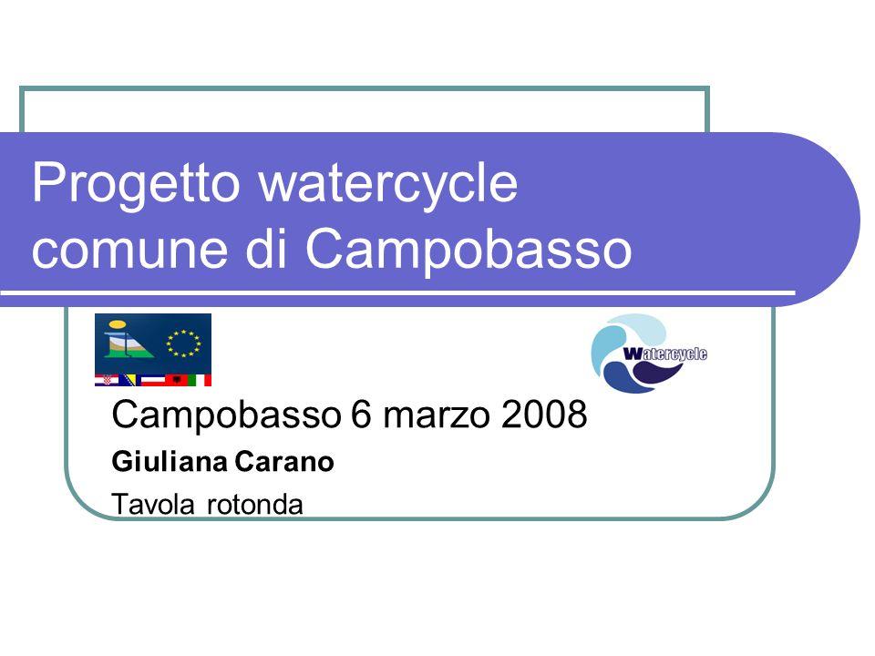 Progetto watercycle comune di Campobasso