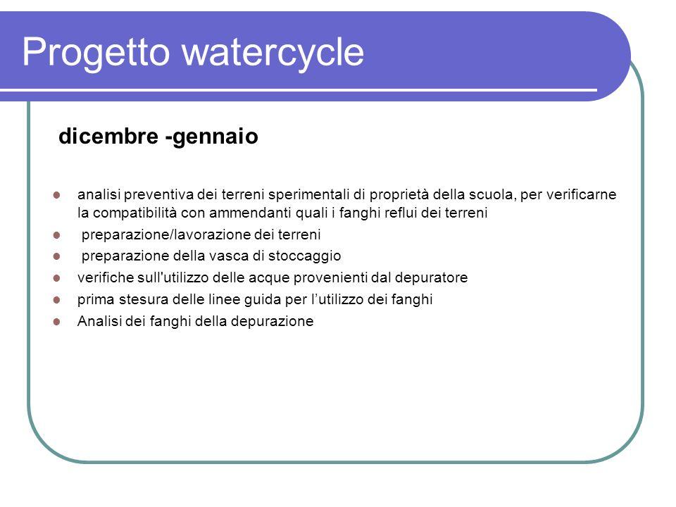 Progetto watercycle dicembre -gennaio