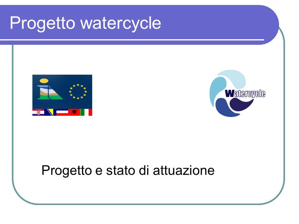 Progetto watercycle Progetto e stato di attuazione