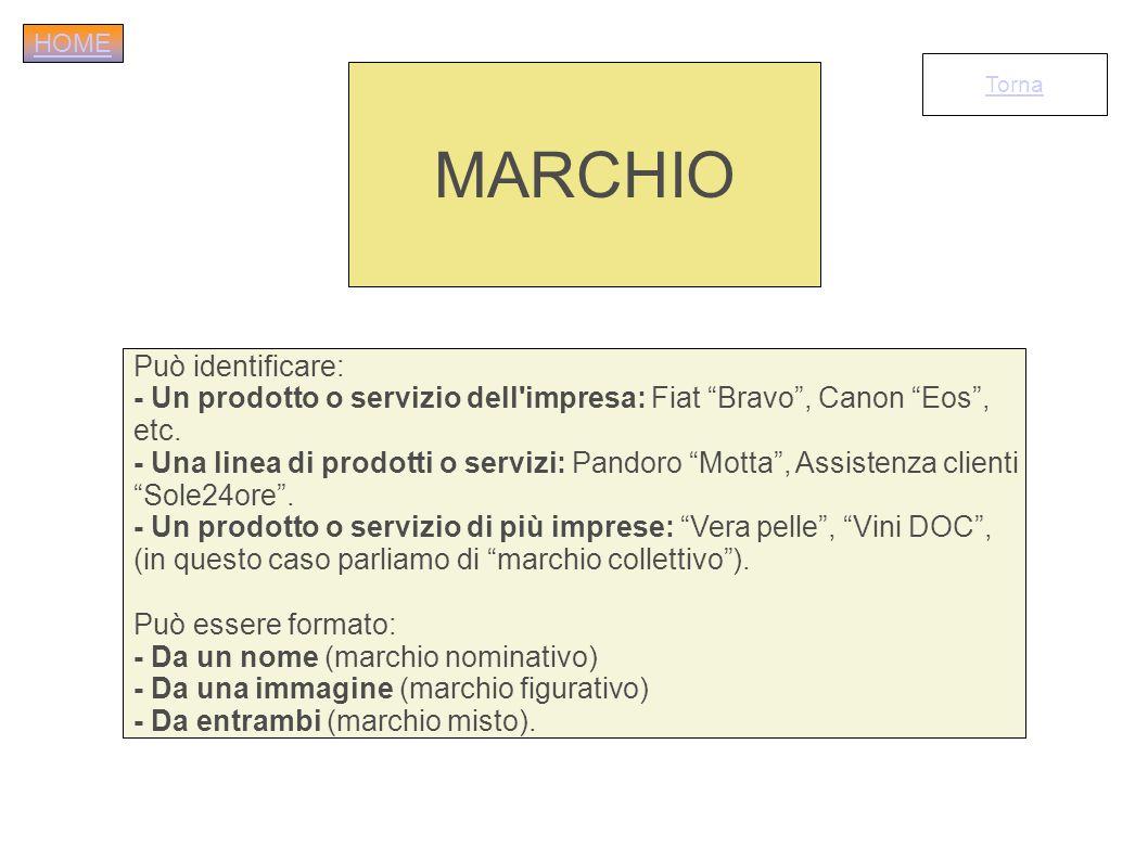 MARCHIO Può identificare: