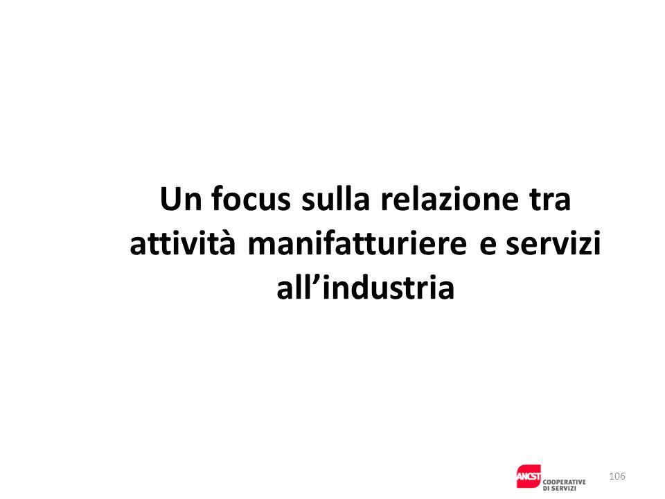 Un focus sulla relazione tra. attività manifatturiere e servizi