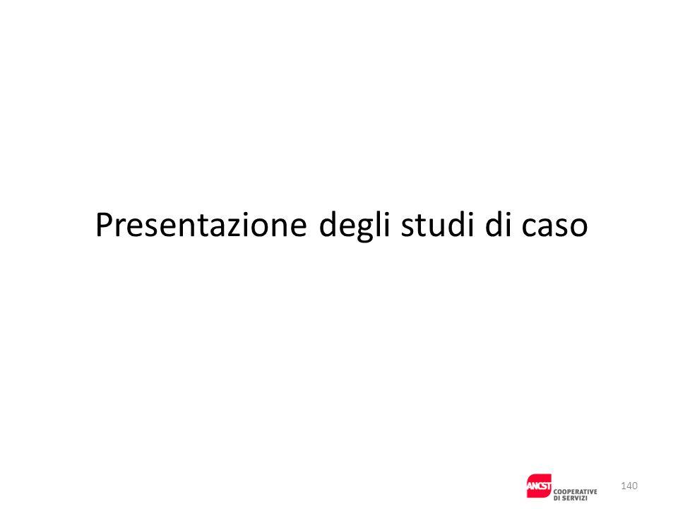 Presentazione degli studi di caso