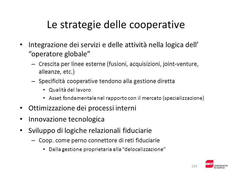 Le strategie delle cooperative