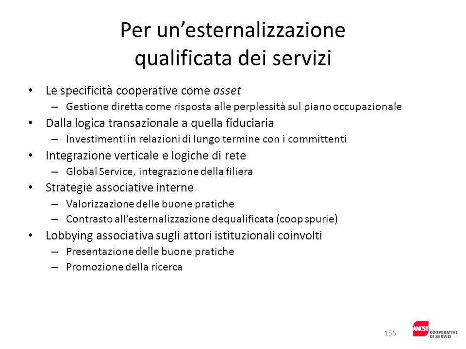 Per un'esternalizzazione qualificata dei servizi