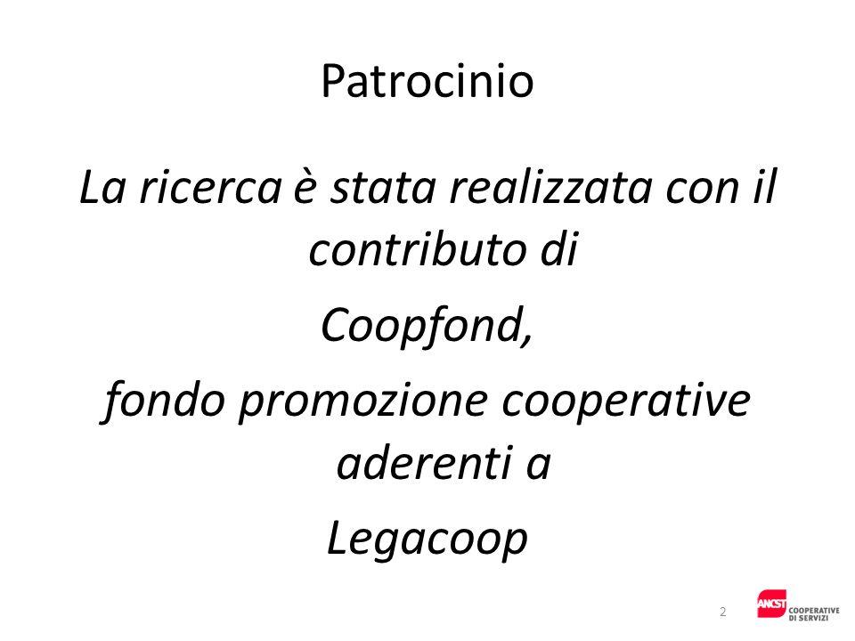 La ricerca è stata realizzata con il contributo di Coopfond,