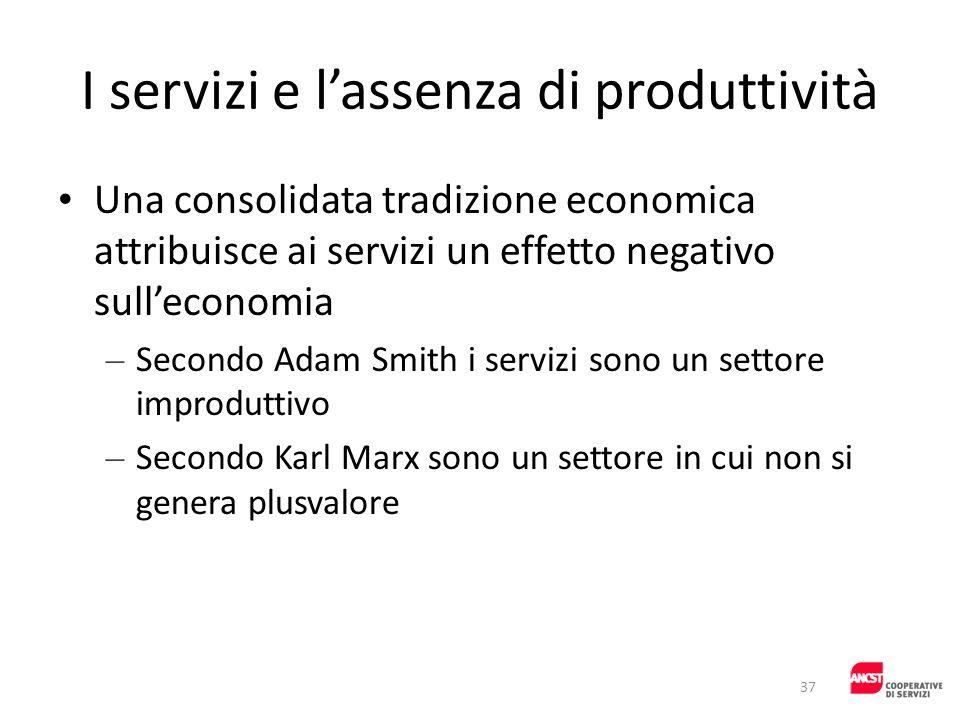 I servizi e l'assenza di produttività