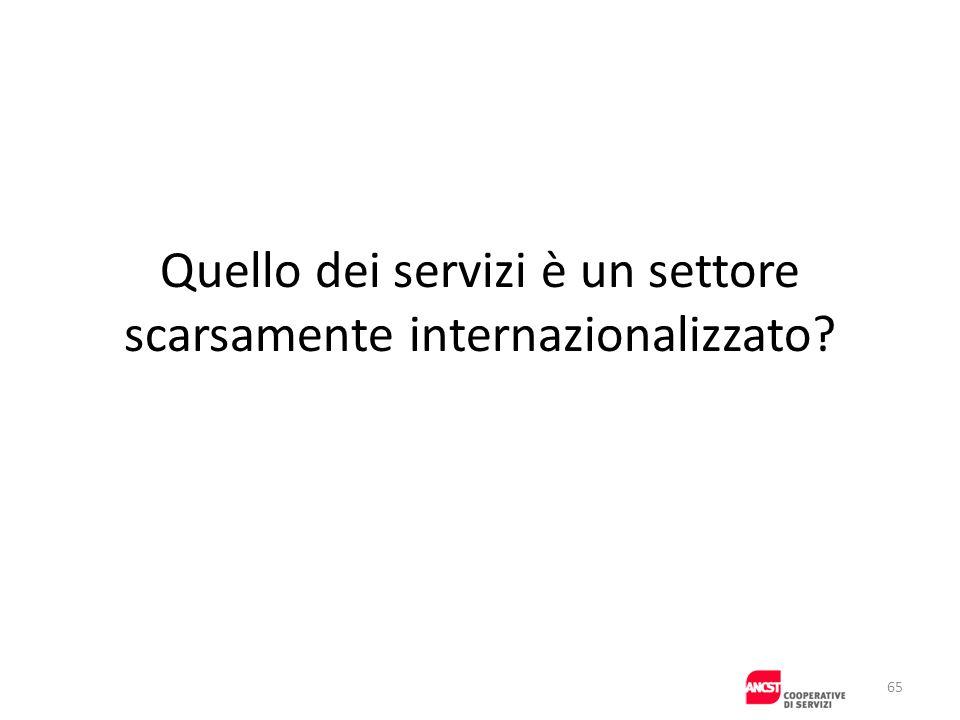 Quello dei servizi è un settore scarsamente internazionalizzato
