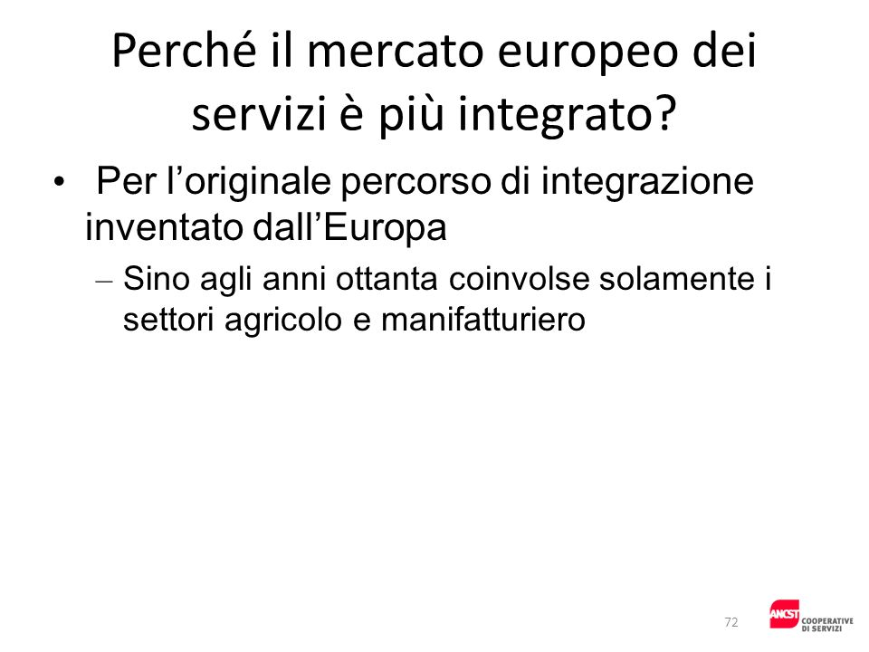 Perché il mercato europeo dei servizi è più integrato