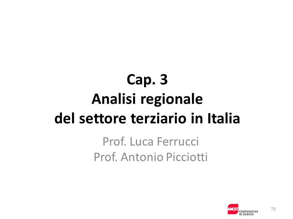 Cap. 3 Analisi regionale del settore terziario in Italia