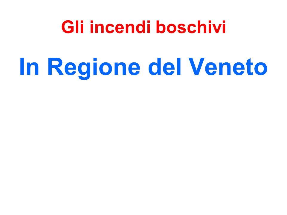 Gli incendi boschivi In Regione del Veneto