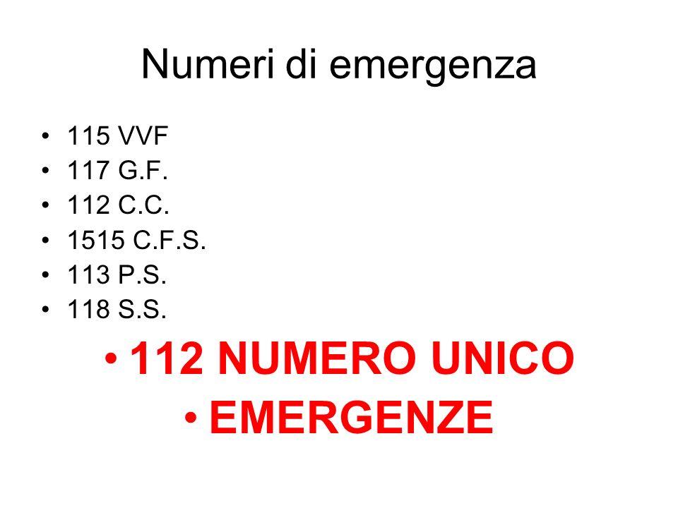 112 NUMERO UNICO EMERGENZE