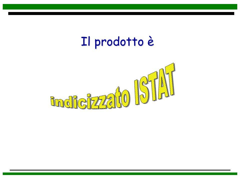 Il prodotto è indicizzato ISTAT