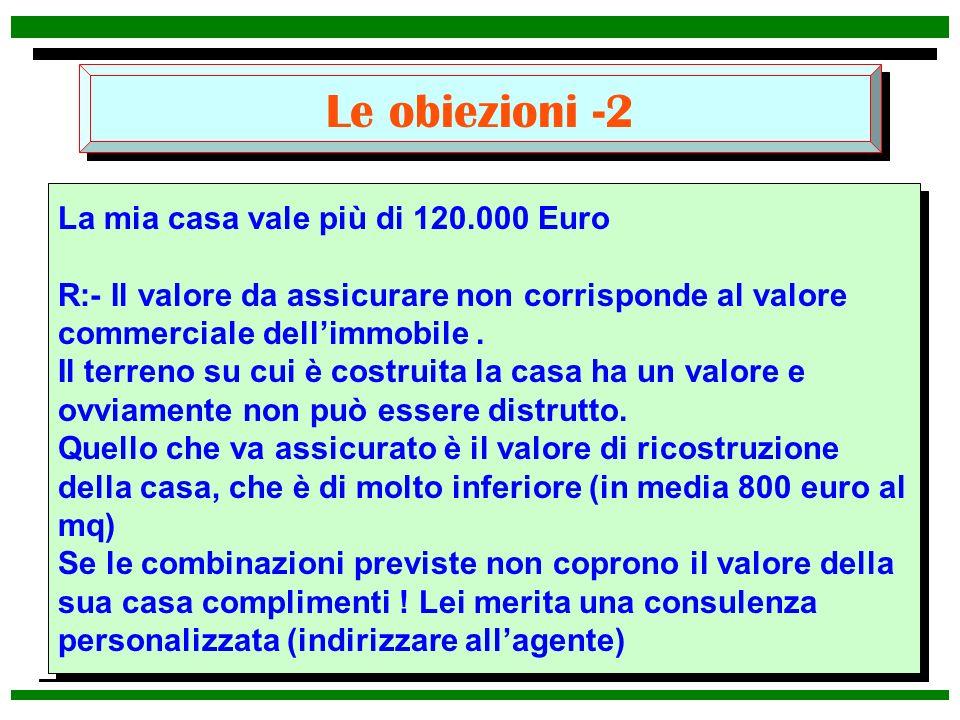 Le obiezioni -2 La mia casa vale più di 120.000 Euro
