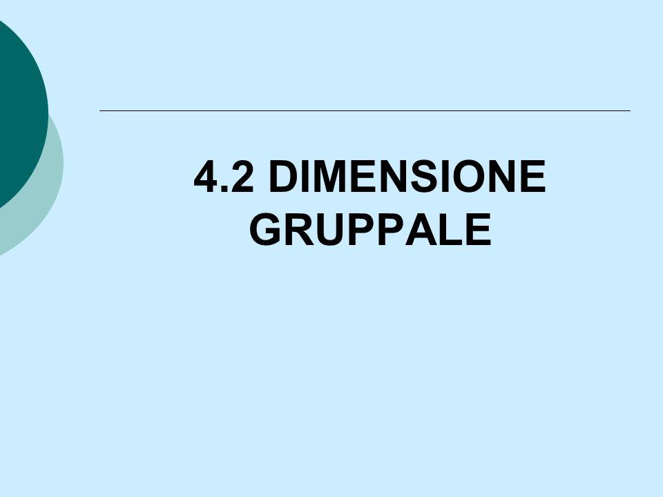 4.2 DIMENSIONE GRUPPALE