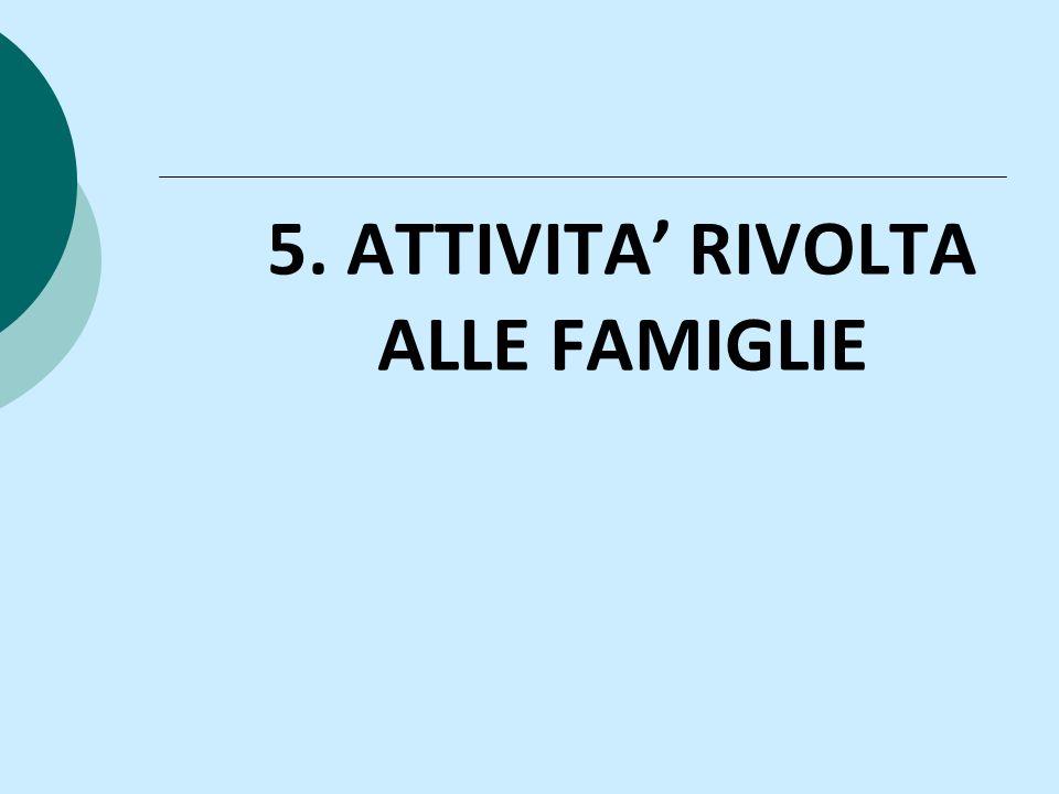5. ATTIVITA' RIVOLTA ALLE FAMIGLIE