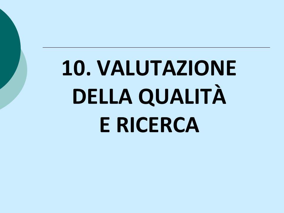 10. VALUTAZIONE DELLA QUALITÀ E RICERCA