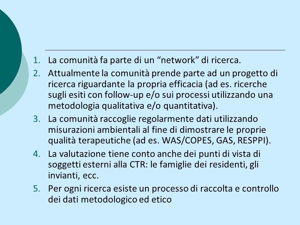 La comunità fa parte di un network di ricerca.