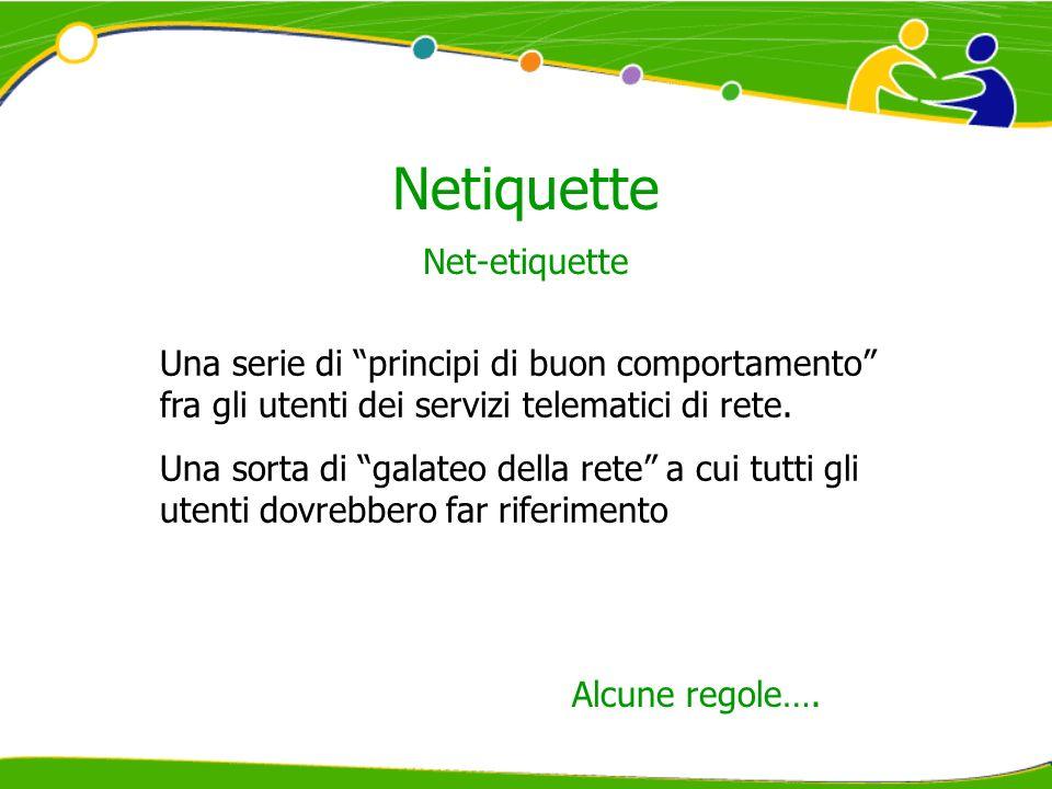Netiquette Net-etiquette