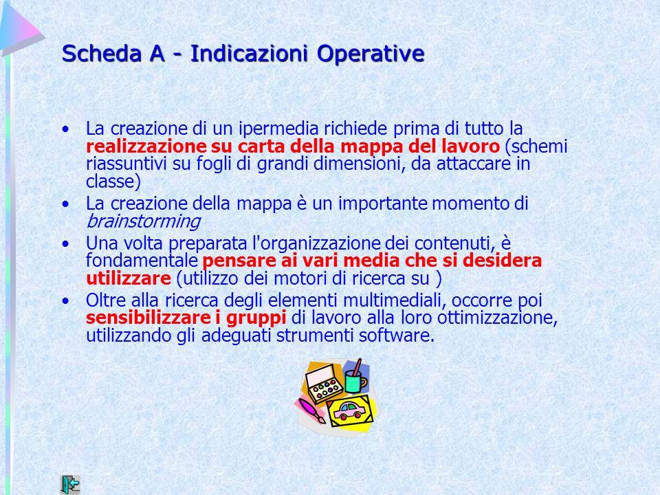 Scheda A - Indicazioni Operative