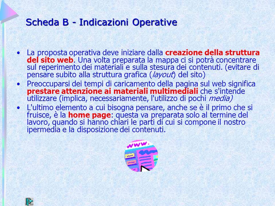 Scheda B - Indicazioni Operative